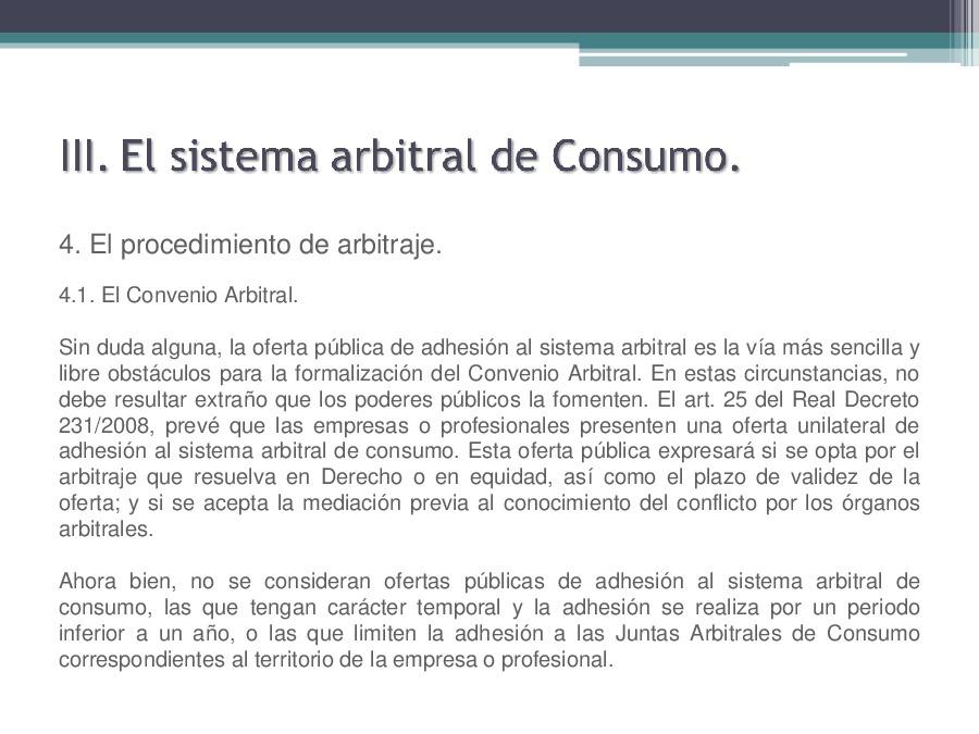 A arbitraxe de consumo